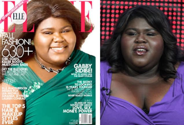 Gabourey Sidibe-Elle-controversy-white-washing-dating-black-woman