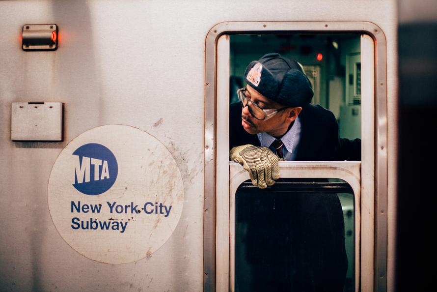 Good man driving a New York City Subway