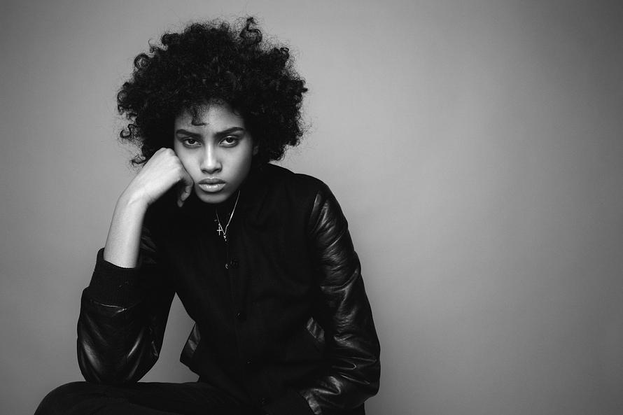 Imaan-Hammam-beautiful-Arab-Black-white-color